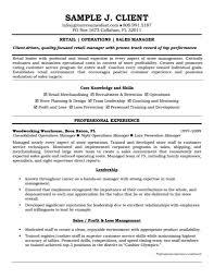 Client Services Manager Resume Extraordinary Inspiration Retail Manager Resume Examples 11