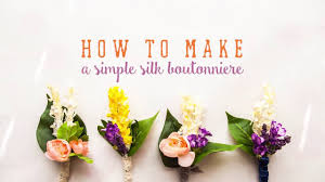 how to make boutonnieres how to make a wedding boutonniere silk flowers diy