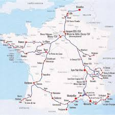 Rail Map Of Europe by Maps Of France U2013 Bonjourlafrance