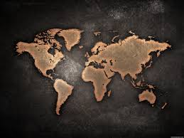 Black World Map by Grunge World Map Psdgraphics