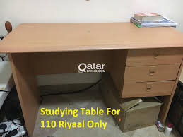 Leather Rolling Chair by Cheap Studying Table And Leather Rolling Chair Like New Qatar