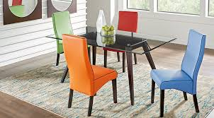 colonia hills cappuccino 5 pc dining set with red chairs dining