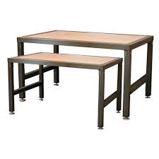 display tables for boutique steel frame nesting display tables retail display tables by