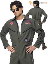 top gun jumpsuit mens top gun deluxe pilot costume adults aviator jumpsuit fancy