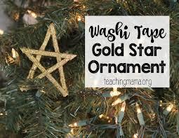 washi tape gold star ornament jpg
