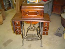 White Sewing Machine Cabinet by Antique White Treadle Sewing Machines Collection On Ebay
