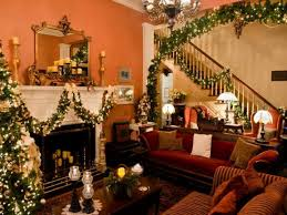 christmas homes decorated inside home design
