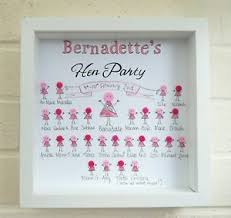 handmade wedding gifts hen party button frame hen do gift personalised handmade wedding