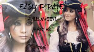 easy pirate makeup look for halloween wanza beauty youtube