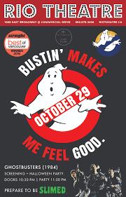 ghost busters halloween ghostbusters 1984 screening u0026 halloween party u2013 rio theatre