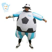 halloween costume men cosplay inflatable soccer football costumes