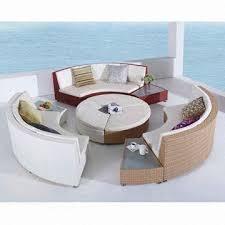 outdoor furniture all weather rattan wicker big round sofa set