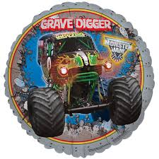 grave digger monster truck halloween costume monster jam 3d party in a box for 8 birthdayexpress com