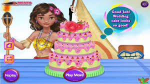 moana wedding cake game cooking video games for girls youtube