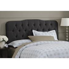 buy tufted arch upholstered headboard size queen finish black