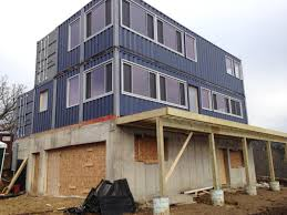 shipping container home progress home located in wisconsin
