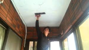 cement rendering on concrete ceiling youtube