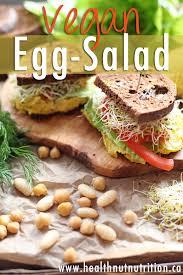 vegan egg salad healthy lunch ideas