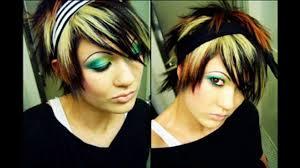 short emo hairstyle ideas youtube
