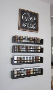 Spice Cabinets For Kitchen | kitchen wall spice rack small changes big impact wall storage