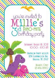 Party Invitation Card Design Dinosaur Themed Birthday Party Invitation Card Design Idea With