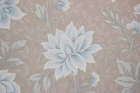 1940s vintage wallpaper blue and pink flowers on beige rosie u0027s