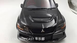 agu model mitsubishi lancer evo ix resin scale 1 18 in black