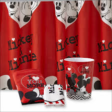 Minnie Mouse Bedding And Curtains by Bathroom Mickey And Minnie Shower Curtain Mickey Mouse Bathroom