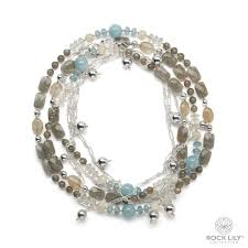 beaded necklace photos images Beaded necklace with aquamarine labradorite rutile re attached jpg
