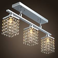 lightinthebox chandelier with 3 lights in crystal flush mount