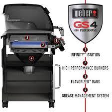 shop weber genesis ii e 410 black 4 burner liquid propane gas