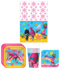 halloween cups and plates amazon com trolls birthday party supplies bundle kit including