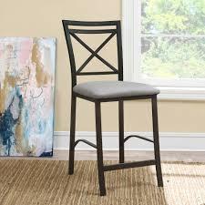 dorel home devon crossback counter height dining chair grey