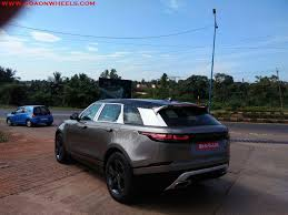 land rover velar blue range rover velar first edition spotted in goa