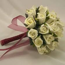 silk wedding flowers bridal bouquets ivory rosebud diamante bridal bouquet silk