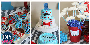 1st Birthday Party Decorations Homemade Little Man First Birthday Party Diy Swank
