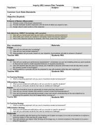 co teaching planning sheet