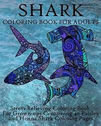 amazon shark coloring book coloring book adults