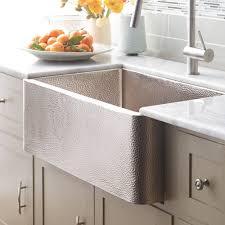 Farmhouse  Brushed Nickel Kitchen Sink Native Trails - Hammered kitchen sink