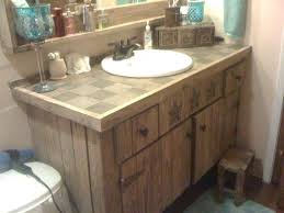 rustic bathroom vanities for a casual country style redoubtable