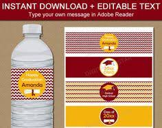 high school graduation party supplies graduation water bottle labels high school graduation party decor