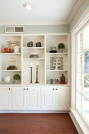Built In Cabinets Living Room by Living Room Decor Rustic Farmhouse Style White Painted Built In