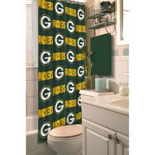 Nfl Shower Curtains Nfl Green Bay Packers Decorative Bath Collection Shower Curtain