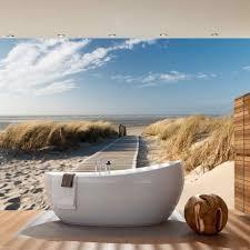 tapeten fã r badezimmer vlies fototapete sea dunes strand tapete meer nordsee