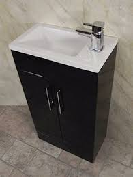 Square Sink Vanity Unit Zenith 400 Series Medium Oak Single Door Vanity Unit Small