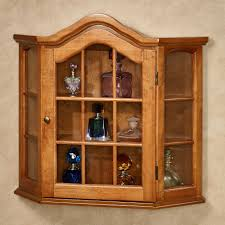 Wall Mounted Cabinet With Glass Doors by Curio Cabinet Corner Wall Curio Cabinet Mount Cabinets With
