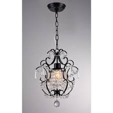 black crystal chandelier lighting ideas for home decoration
