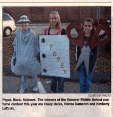 Rock Paper Scissors Halloween Costume Group Costume Ideas