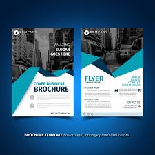 technical brochure template flyer template design vector free
