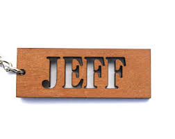 personalized wooden keychains custom laser engravings by cuttingetchga on etsy